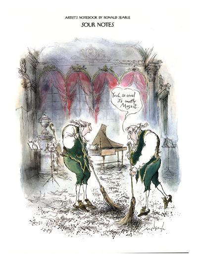 Sour Notes-'Yeah, as usual it's mostly Mozart' - New Yorker Cartoon-Ronald Searle-Premium Giclee Print