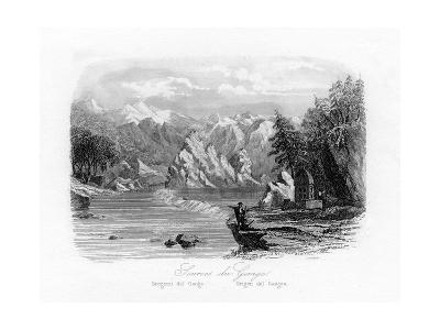 Source of the Ganges, India, C1840-N Remond-Giclee Print