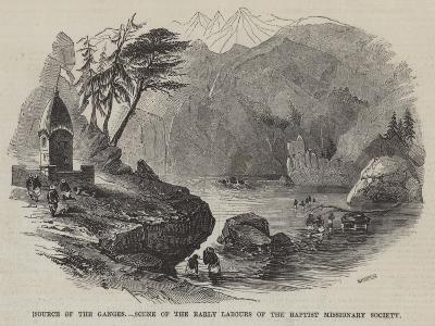 Source of the Ganges, Scene of the Early Labours of the Baptist Missionary Society--Giclee Print
