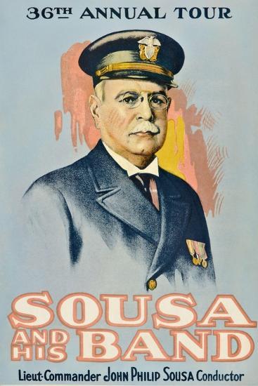 SOUSA AND HIS BAND, John Philip Sousa, 1901.--Art Print