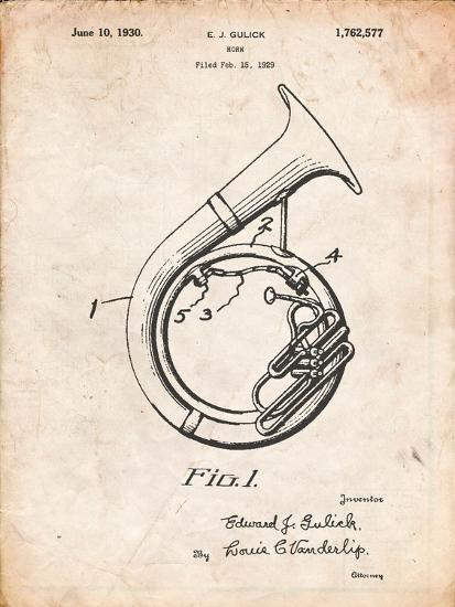 Sousaphone Patent-Cole Borders-Art Print
