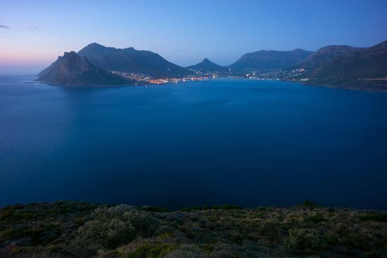 South Africa, Cape Peninsula, Hout Bay, Dusk-Catharina Lux-Photographic Print