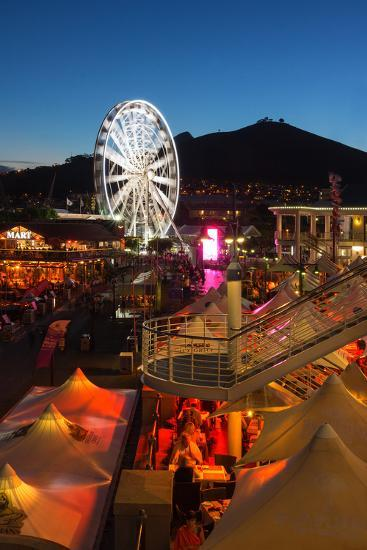 South Africa, Cape Town, V and a Waterfront, Evening-Catharina Lux-Photographic Print