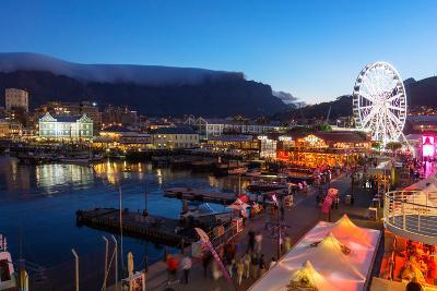 South Africa, Cape Town, V and a Waterfront, Table Mountain, Evening-Catharina Lux-Photographic Print
