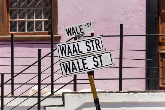 South Africa, Cape Town, Varity of Street Signs-Catharina Lux-Photographic Print