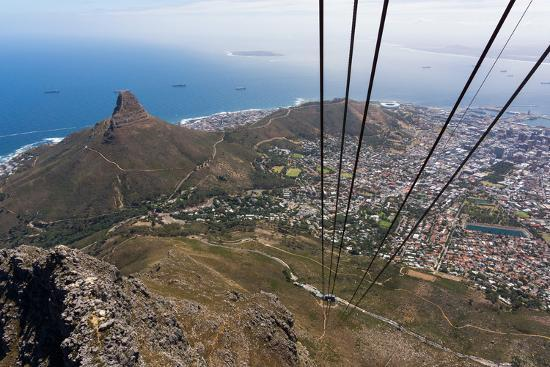 South Africa, Cape Town, View from the Table Mountain, Cableway-Catharina Lux-Photographic Print