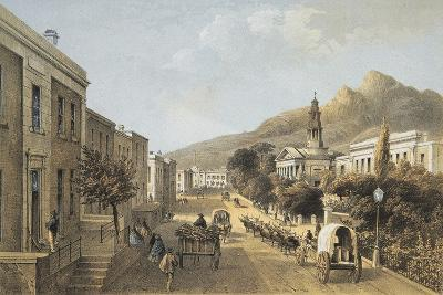 South Africa, Cape Town, Wale Street and St George's Cathedral-Thomas William Bowler-Giclee Print
