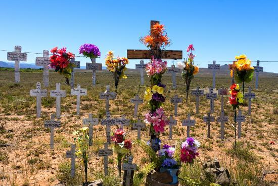 South Africa, Little Karoo, Memorial Crosses-Catharina Lux-Photographic Print