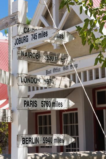 South Africa, Matjiesfontein, Signpost-Catharina Lux-Photographic Print