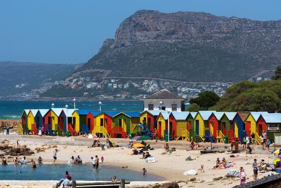 South Africa, Muizenberg, Beach, Little Bathhaus-Catharina Lux-Photographic Print