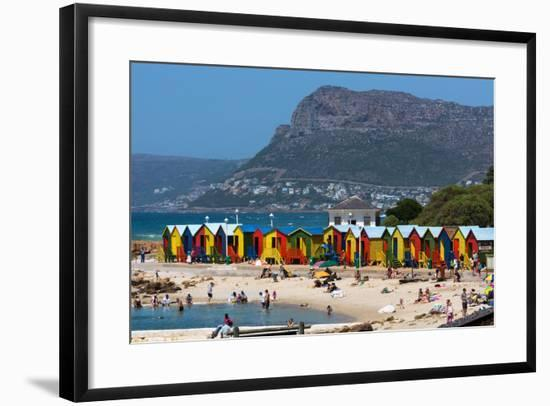 South Africa, Muizenberg, Beach, Little Bathhaus-Catharina Lux-Framed Photographic Print