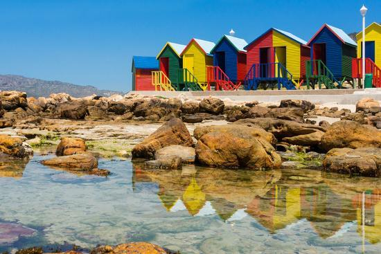 South Africa, Muizenberg, Little Bathhaus-Catharina Lux-Photographic Print