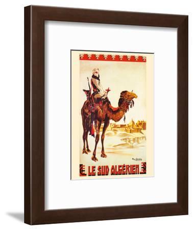 South Algeria (Le Sud Algérien) - Nomad on Camel - Algerian Railway-Roger Irriera-Framed Art Print