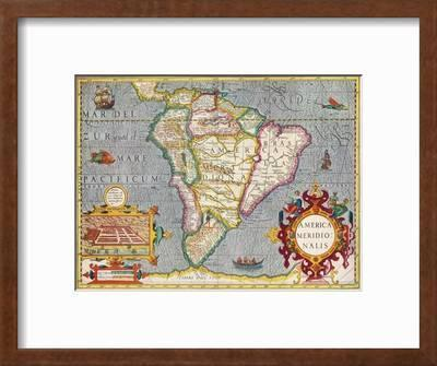 South America America Meridionalis From The Atlas Of Gerardus Mercator 1633 1936 Giclee Print Gerardus Mercator Art Com