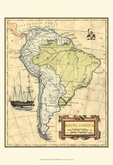 South America Map--Art Print