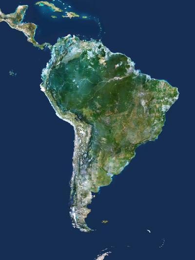 South America, Satellite Image-PLANETOBSERVER-Photographic Print