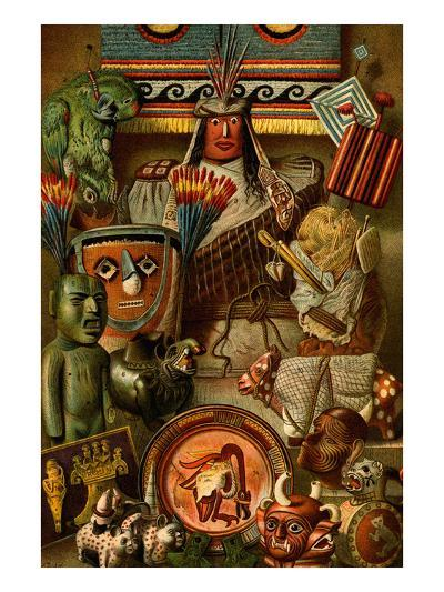 South American Indian Antiquities-F^W^ Kuhnert-Art Print