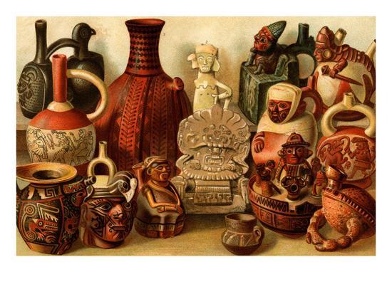 South American Indian Antiquities-F^W^ Kuhnert-Art Print