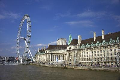 South Bank, London Eye, County Hall Along the Thames River, London, England-Marilyn Parver-Photographic Print