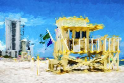 South Beach Miami IV - In the Style of Oil Painting-Philippe Hugonnard-Giclee Print