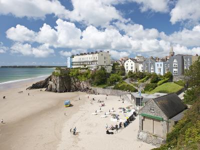 South Beach, Tenby, Pembrokeshire, Wales, United Kingdom, Europe-David Clapp-Photographic Print