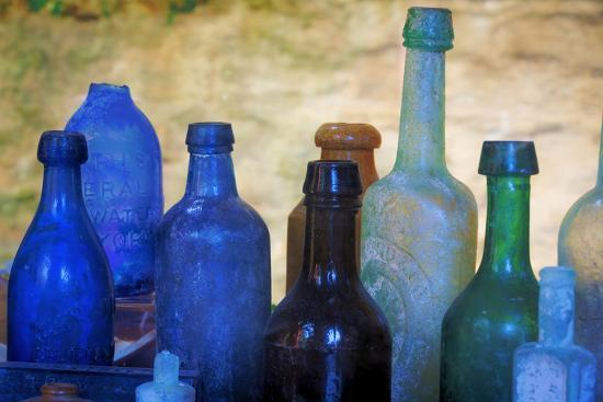 South Carolina, Charleston. Old Bottles Excavated from Slave Quarters-Don Paulson-Photographic Print