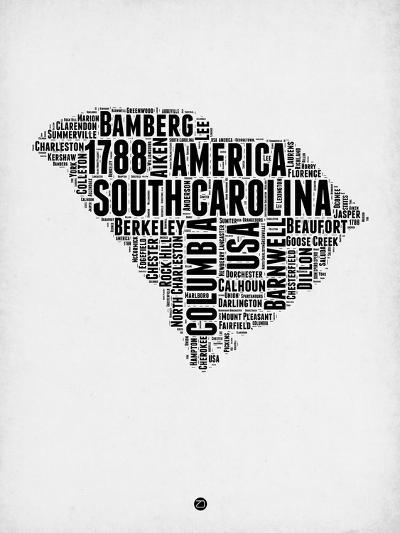 South Carolina Word Cloud 1-NaxArt-Art Print