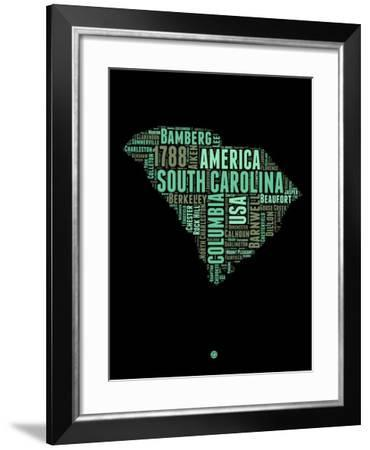 South Carolina Word Cloud 2-NaxArt-Framed Art Print