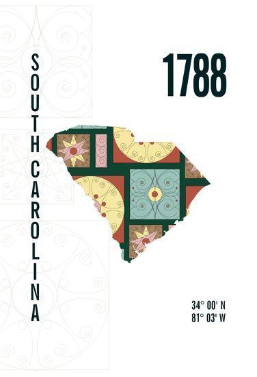 South Carolina-J Hill Design-Giclee Print