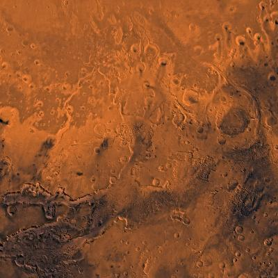 South Chryse Basin Valles Marineris Outflow Channels on Mars-Stocktrek Images-Photographic Print