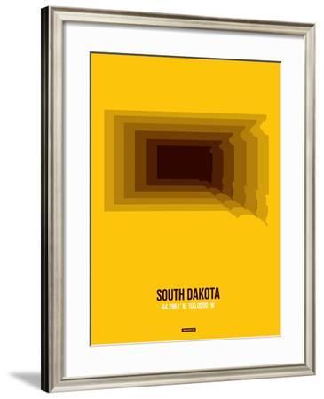 South Dakota Radiant Map 3-NaxArt-Framed Art Print