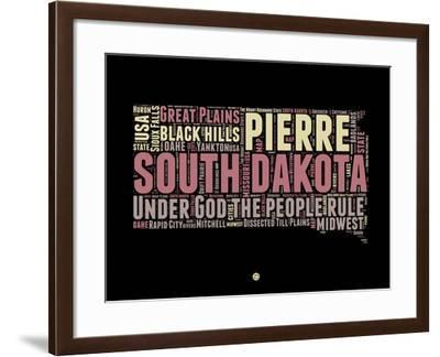 South Dakota Word Cloud 2-NaxArt-Framed Art Print