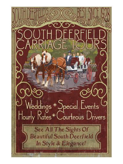 South Deerfield, Massachusetts - Carriage Tours-Lantern Press-Art Print