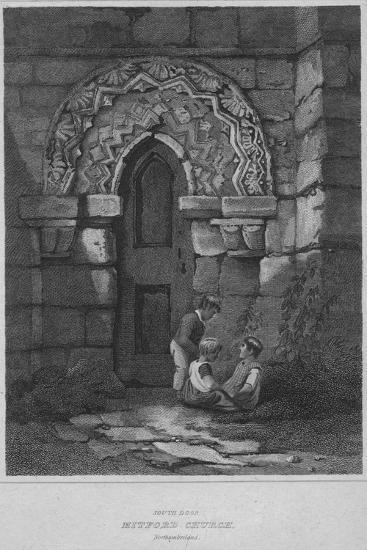 'South Door - Mitford Church, Northumberland', 1814-John Greig-Giclee Print