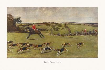 South Dorset Hunt-Cecil Aldin-Premium Giclee Print