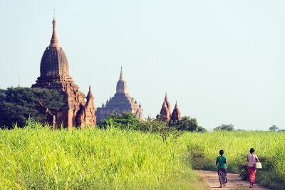 South East Asia, Myanmar, Bagan, Temples on Bagan Plain-Christian Kober-Photographic Print