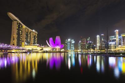 South East Asia, Singapore, Marina Bay Sands and Art Science Museum-Christian Kober-Photographic Print