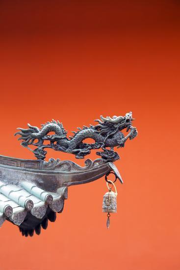 South East Asia, Singapore, Thian Hock Keng Temple, Detail of Dragon Sculpture-Christian Kober-Photographic Print