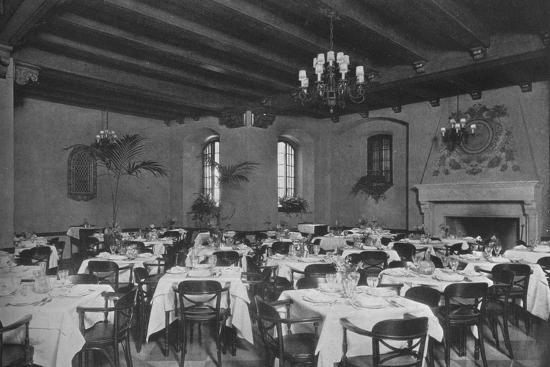 South-east dining room, the Fraternity Clubs Building, New York City, 1924-Unknown-Photographic Print