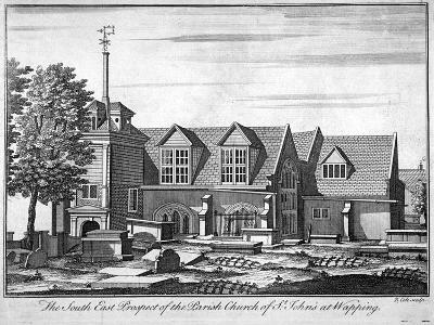 South-East Prospect of the Parish Church of St John-At-Wapping, London, C1750-Benjamin Cole-Giclee Print