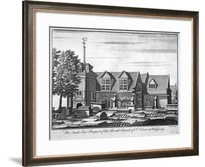 South-East Prospect of the Parish Church of St John-At-Wapping, London, C1750-Benjamin Cole-Framed Giclee Print