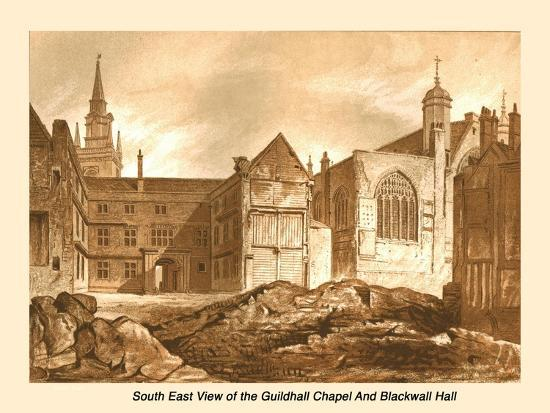 South East View Guildhall Chapel and Blackwell Hall, 1886-Unknown-Giclee Print