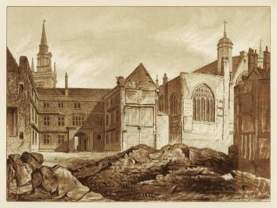 South-East View of Guildhall Chapel and Blackwell Hall, City of London, 1886--Giclee Print