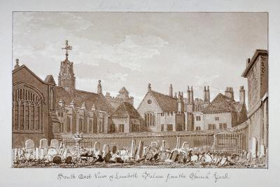 South-East View of Lambeth Palace from the Churchyard, London, 1828-John Chessell Buckler-Giclee Print