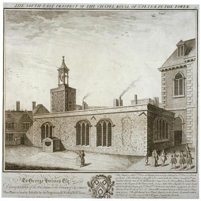 South-East View of the Chapel of St Peter Ad Vincula, Tower of London, C1737-William Henry Toms-Giclee Print