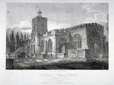 South-East View of the Church of St Dunstan, Stepney, London, 1804-James Sargant Storer-Giclee Print