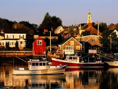 South End, Harbor and Houses, Portsmouth, New Hampshire-John Elk III-Photographic Print