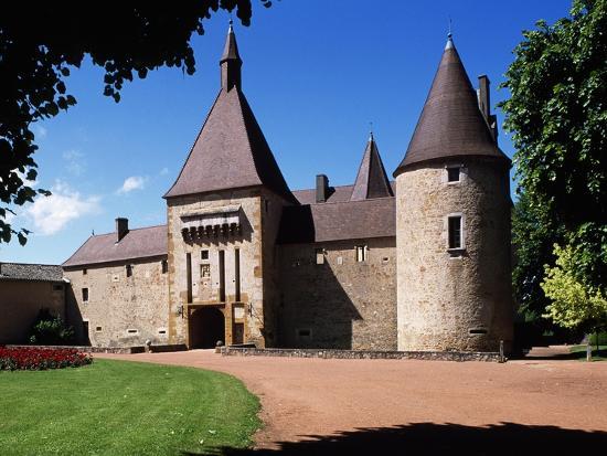 South Facade of Chateau De Corcelles, Corcelles-En-Beaujolais, Rhone-Alpes, France--Giclee Print