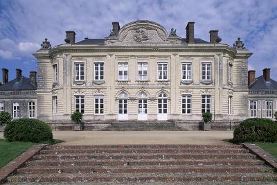 South Facade of Chateau De Craon, Pays De La Loire, Detail, France--Giclee Print