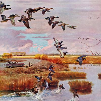 """""""South for the Winter"""", October 26, 1957-John Clymer-Giclee Print"""